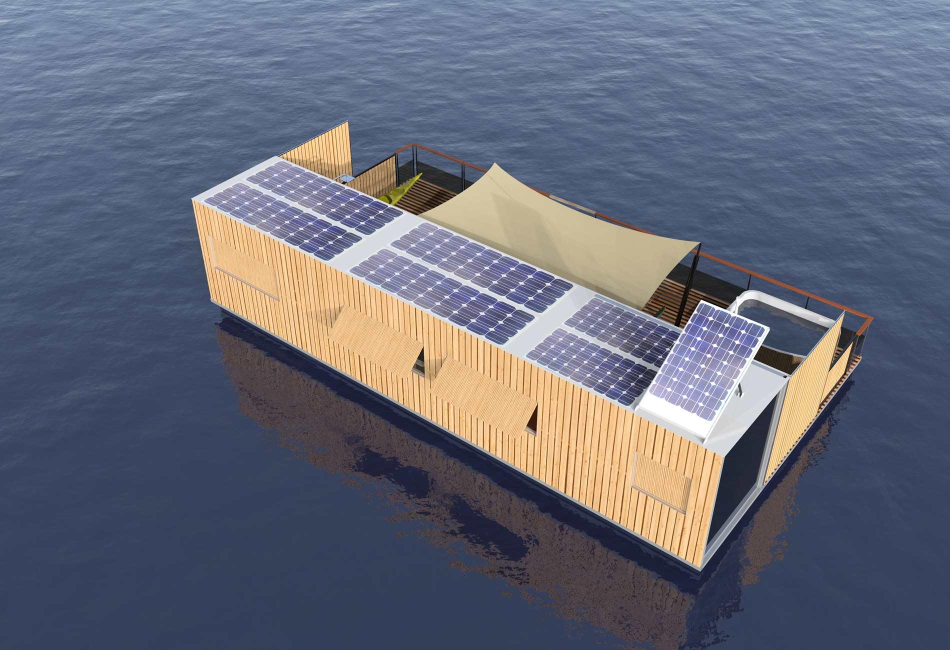 HouseBoat-Architecte-Vincent-Lebailly-Format-container-Habitation-flottante-Innovation