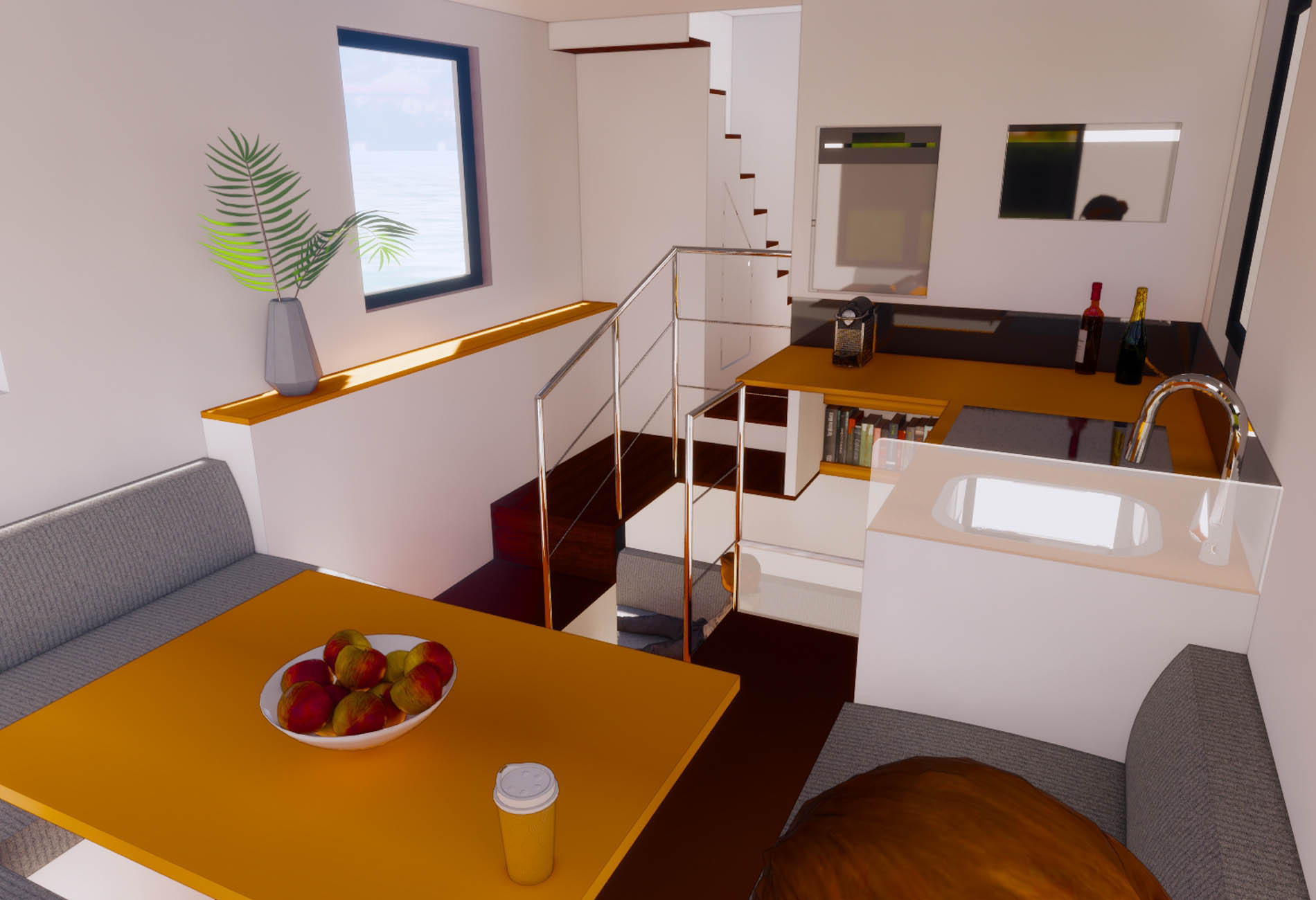 Junhome-Floating House-Naval Architecture-Vincent-Lebailly-Boat-design