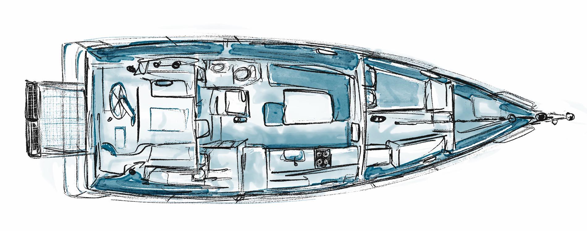 Rasta40-voilier sur-mesure-architecture navale-Vincent Lebailly-intérieur
