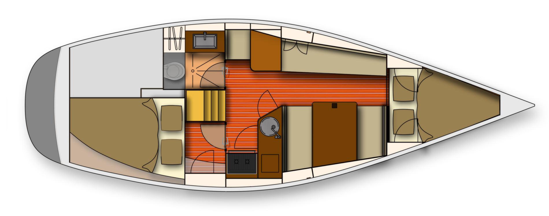 Wrighton30-Bateau-de-série-Maîtrise-d'oeuvre-voilier-de-série-interieur