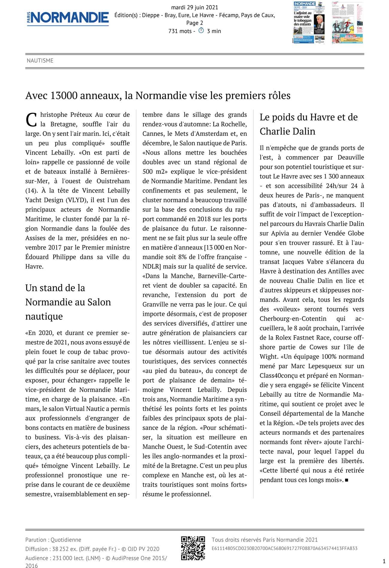 Paris-Normandie-Interview-Vincent-Lebailly-Nautisme-en-Normandie-presse nautique