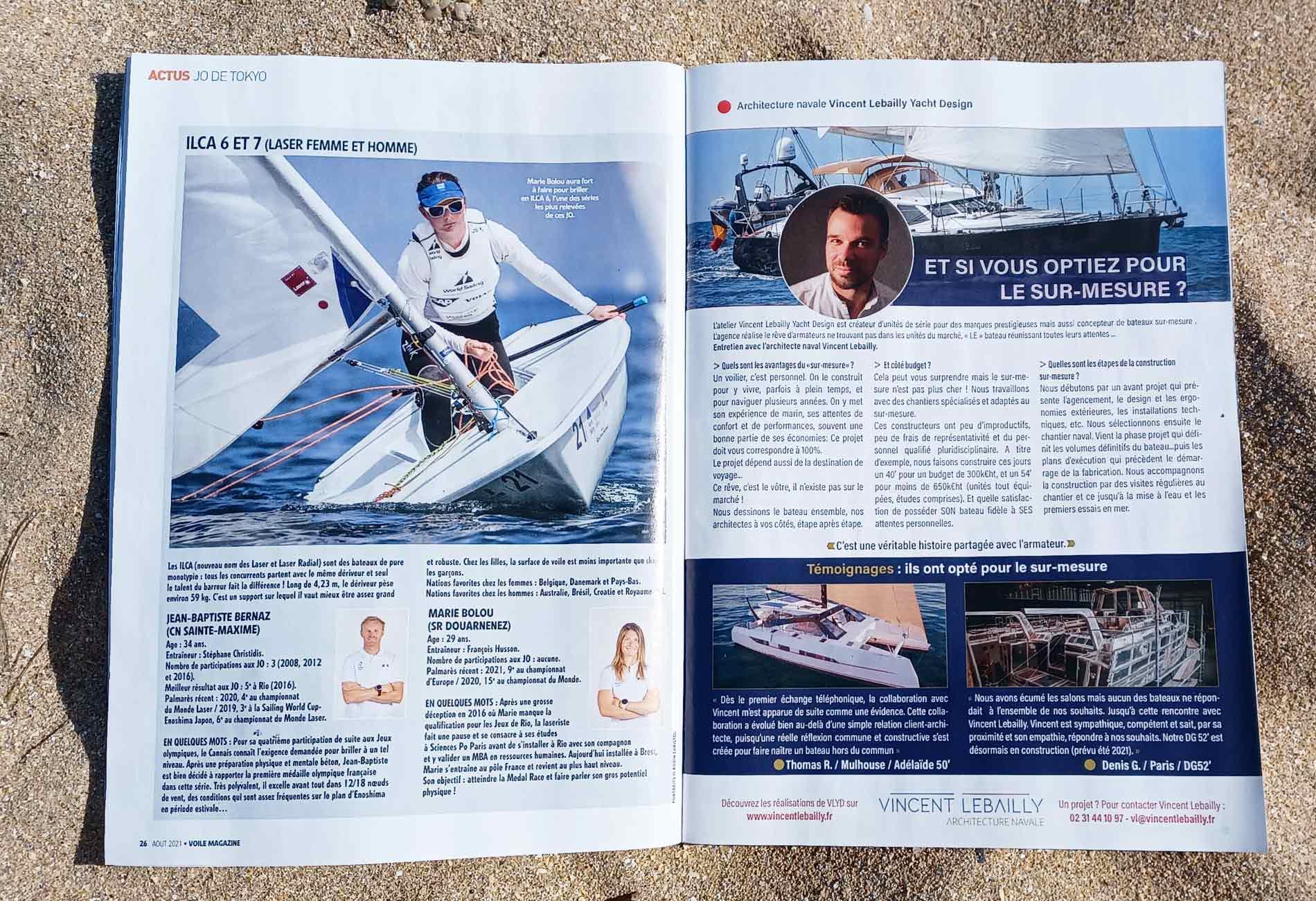 Publireportage-Presse-nautique-Vincent-Lebailly-bateau-sur-mesure-voile-magazine